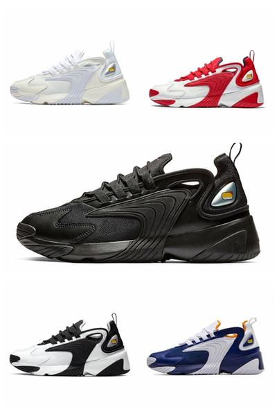 Nike Mais novo Zoom 2K Homens Estilo de Vida Running Shoes Branco Preto Azul ZM 2000 90 s estilo Trainer Designer de Sapatilhas Ao Ar Livre M2K Confortável Causal sapatos