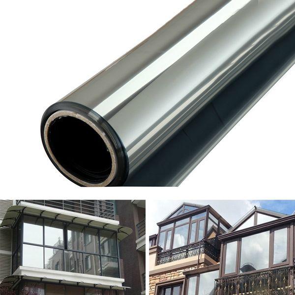 best selling One Way Mirror Privacy Reflection 15% Tint Window Film Solar Energy Save Building Glass Film Home Window Sticker Sun Film 1M*50CM 2M*50CM