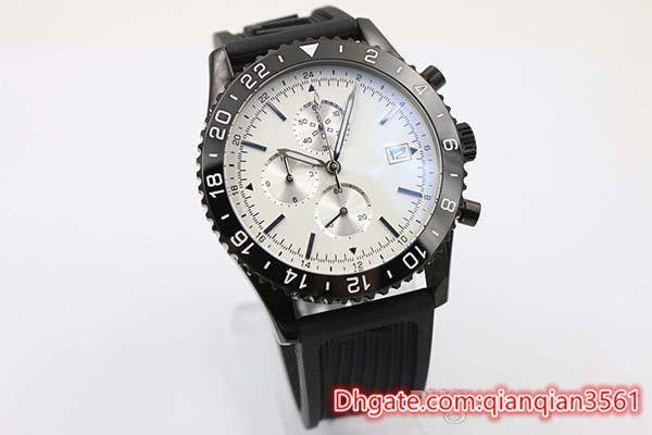 High quality Big Black Silicone Skeleton Quartz Chronograph Men S Wristwatch Rubber Belt Y24310 Chronometer Stopwatch Male luxury watch
