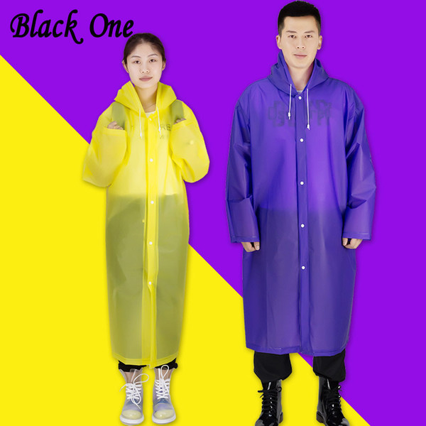 Women Rainwear Men Rain Coat Transparent Raincoat Not Disposable Waterproof Hooded Rain Cover Impermeable Suit For Fishing Y190313