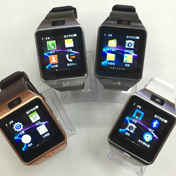 Wholesale Hot DZ09 Bluetooth Smart Watch Wearable Wrist Watches Touch Screen For Samsung S8 Android Phone Sleeping Monitor Smart Watches
