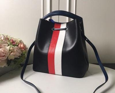 Designer cuir cordon femmes classique vagues de bloc de couleurs couleurs seau sacs 24.5cm large deux qualité unique ceinture d'épaule faible profit