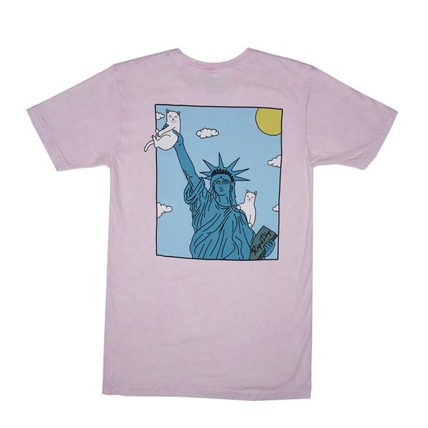 Véritable Rip N Dip Liberté Poche T-Shirt (Rose Mineral Wash) - Extra Large