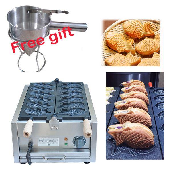 Livraison gratuite électrique 110v 220v Taiyaki forme Waffle grill poisson gaufrier