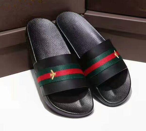 439ea3f619a8 Designer Rubber slide sandal Floral brocade men slipper Gear bottoms Flip  Flops women striped Beach causal
