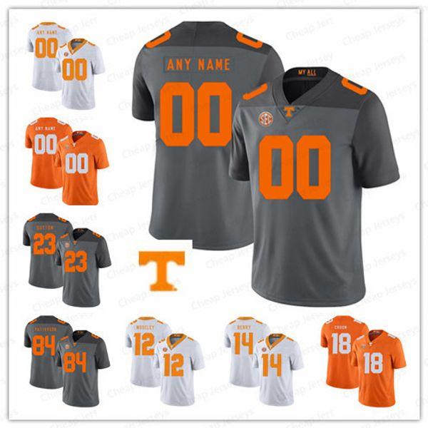 9fb3c1e0e18 Custom Tennessee Volunteers College Football white gray orange Stitched Any  Name Number 11 Joshua Dobbs 16