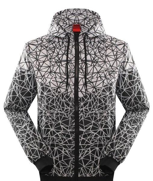 Mode-Hot New Mode Hommes et Femmes Pull Sweats à capuche amant automne mince Windrunner léger coupe-vent Livraison gratuite Zipper Hoodies