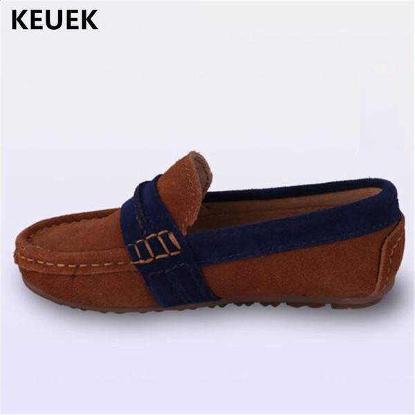 Novas Crianças Se Vestem Sapatos Mocassins De Couro Genuíno Meninos Sapatos De Couro Mocassins Do Bebê Da Criança Estudante Crianças Parental 041