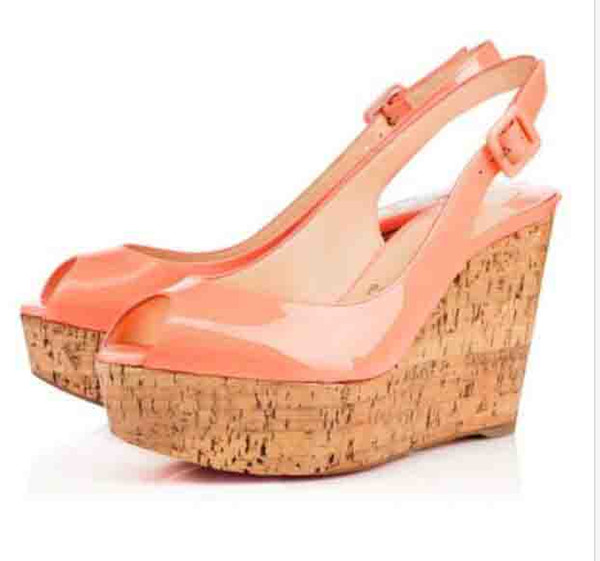 9de803e0e9 Free Shipping Lady Wedding High Red Bottom Heels Women High Heels Patent  Leather Wedge Shoes Women
