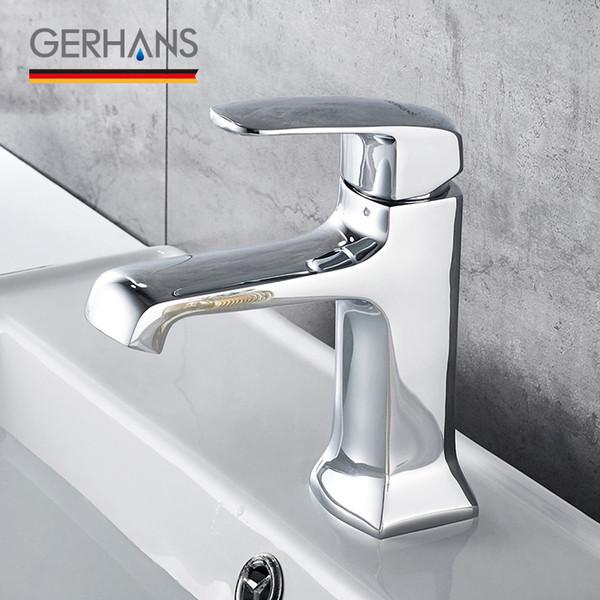 GERHANS Leocube Смеситель для раковины ванной комнаты Современный однорычажный туалет из твердой латуни Смеситель для раковины Смеситель для раковины Кран K11006