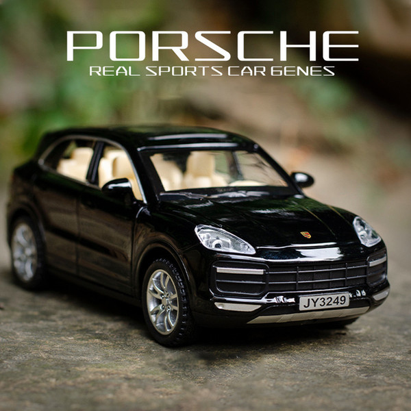 Porsche Cayenne SUV 1:32 Model Cars Toys Sound /& Light Black Gifts Alloy Diecast