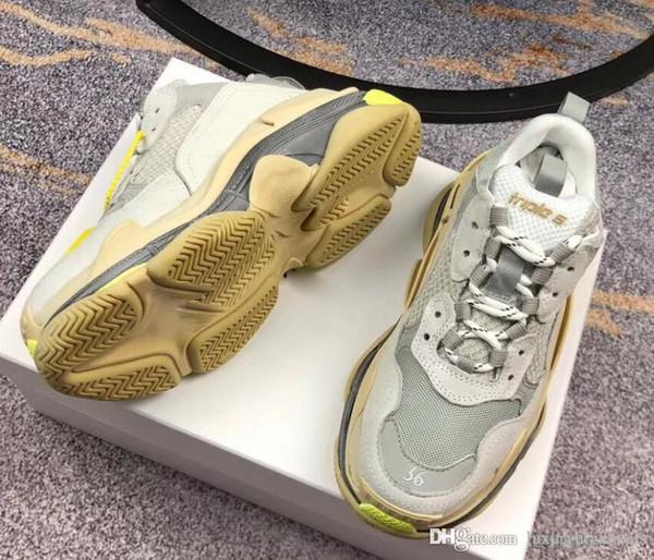 Paris father shoes luxury leather designer flat shoes vintage dad luxury designer sneakers vintage vintage couple 35-45
