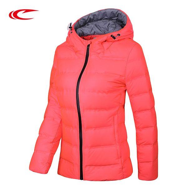 SAIQI Novas Mulheres Grosso Luz Down Jacket 80% Branco Duck Down Jacket Fit Caminhadas Correndo Ir às compras 256778