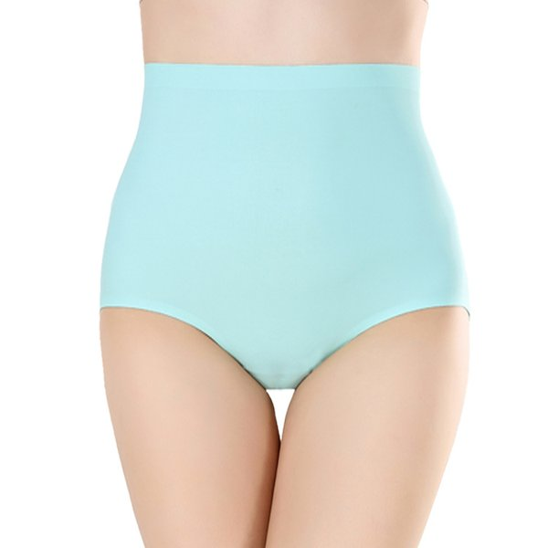 Women Plus Size High Waist Panty One Piece Seamless Underwear Slimming Lingerie Breathable Cotton Ladies Soft Briefs