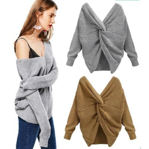 7 Colors V-neck Twisted Sweater Women's Autumn Pullovers Casual Lady Tops Long Sleeves Knit Sweaters Women Clothing MMA1286 60pcs