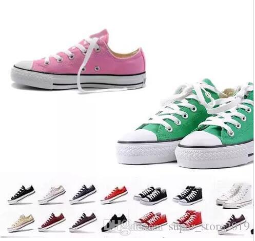 2018 Nuevo Size35-46 Low High top Calzado casual Estilo deportivo estrellas chuck Zapatillas de lona clásicas zapatillas conve Hombres Mujeres Zapatos de lona retail