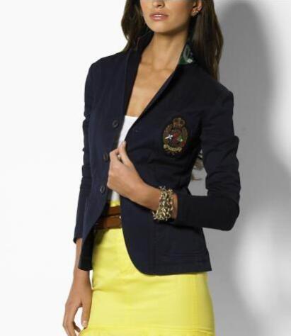 Luxury Winter Ladies Single Breasted Polo Jacket Blazer Cotton Long Sleeve Slim Casual Coats Sport Business Outwear S-XL