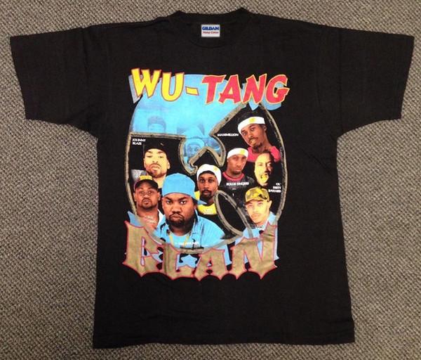 Vintage 1995 Wu Tang Clan T Camisa 90 s rap hop Raekwon Ice Crem, # 2 Personalizado camiseta foto do texto do logotipo Dos Homens Das Mulheres T-shirt dos homens tshirt