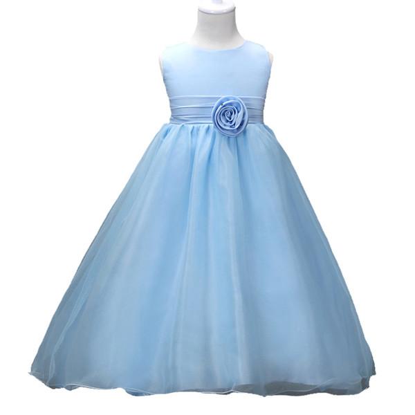 Baby Girl Dress Flower Girl Long Skirt Double Yarn Double Lining Fluffy Hard Net Princess Dress Wedding 48