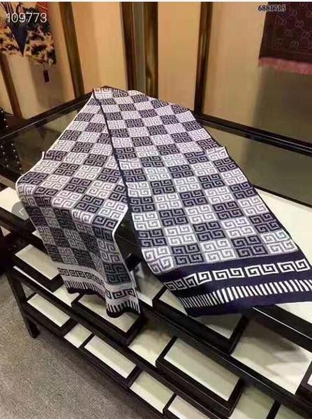 New Schal für Männer 2019 NEUE Mens Winter-Schal Kaschmir-Wolle Warm Marke Kaschmir Schals Schals Wrap 180X30Cm Tücher