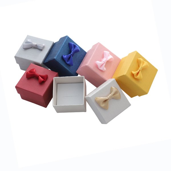 24pcs Paper Jewellery Box 5x5x3cm Wedding Ring Gift Boxes for Jewelry Pendant Case Display Earring Package Jewelry Packaging