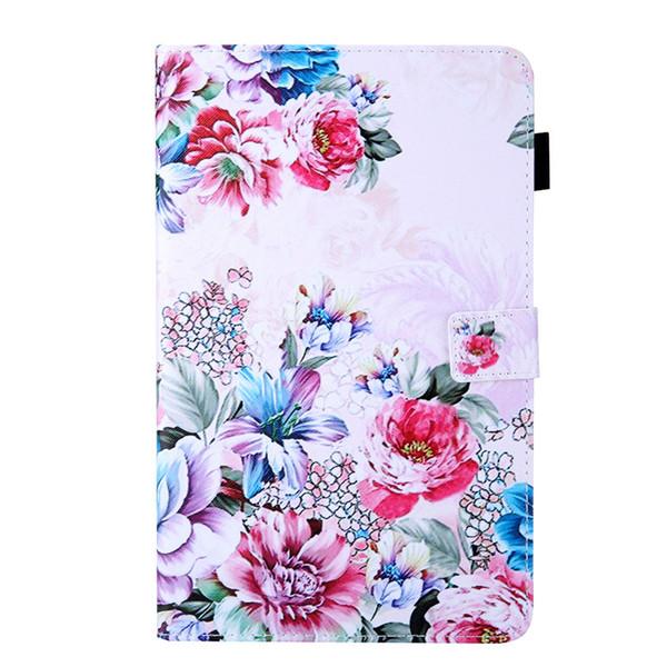 Para amazon kindle fire hd 10 2017 tablet case capa flip stand carteira de couro com função de inserção de cartão de borboleta flor