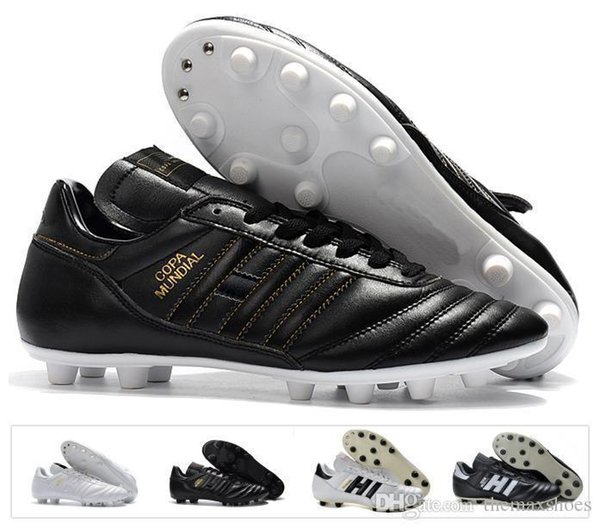 Mundial Classics Hot Copa Mens Leather Fg Soccer Shoes Discount Cleats World Cup Football Boots Black White Botines Futbol Size 39-45