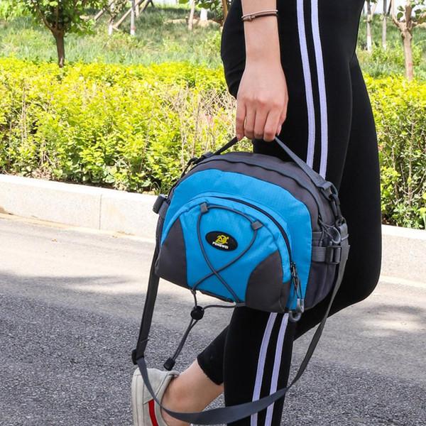 Esporte ao ar livre Caminhadas Viagem Nylon Impermeável Bolsa de Cintura Unissex Bolsa Crossbody Bolsa