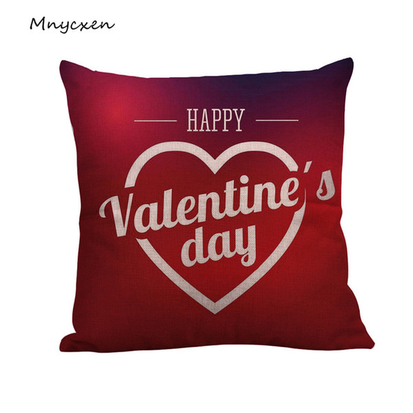 Hirmoly AJ pillow case Happy Valentine's Day pillow cover fashion cushion cover coffee sofa home decoration best gift 3L45