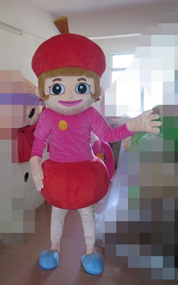 costumes de fruits d'amant de costume de mascotte de cerise de haute qualité pour l'événement de partie de Halloween