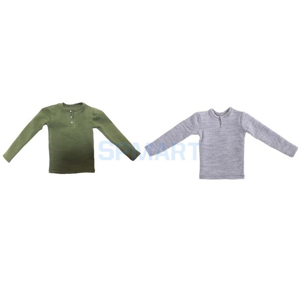 """1//6 Scale Tee Hot Green Short Sleeves T-Shirt For 12/"""" Action Figure Toys"""