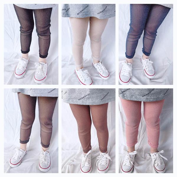 Bling Bling Kids Leggings Summer Fashion Girls Tights Girl Trouser Skinny Girls Leggings kids designer clothes girls clothes A4617