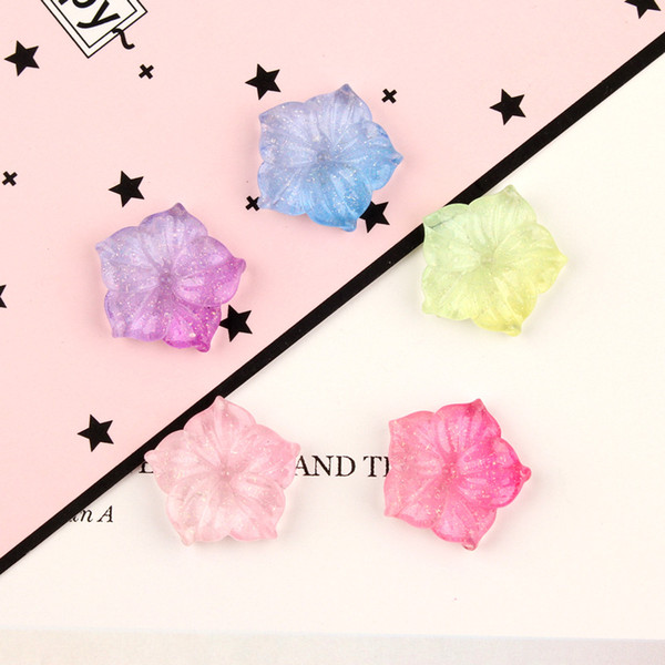 2019 19mm Resin Kawaii Cabochon Gradient Flower Charms Diy
