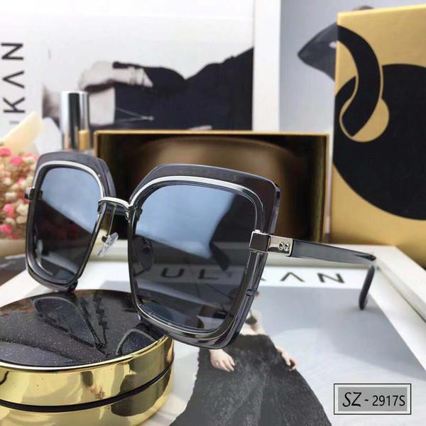 52bbef7c048 Gucci 2917 Moda gafas de sol de diamante de gran tamaño mujeres Rhinestone  cuadrado Cristal Gafas