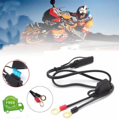 Battery Charger Cable Charging Motorcycle 2 Feet Adapter Wire Terminal Harness