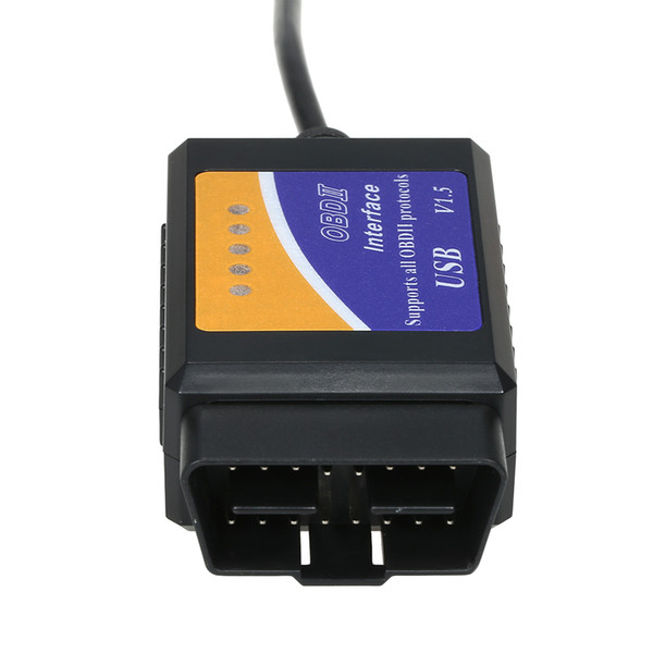 Freeshipping USB Auto Scanner V1.5 ELM327 OBD2 CAN-BUS Diagnostic Interface Scanneur