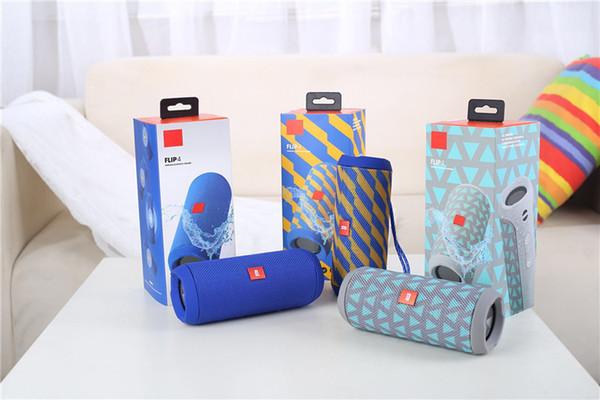 Neue tragbare Flip 4 tragbare drahtlose Bluetooth-Lautsprecher Flip4 Audio Wasserdichte Bluetooth-Lautsprecher unterstützt mehrere
