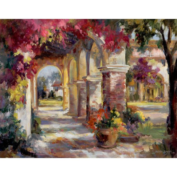 2019 Hand Painted Oil Painting Flowered Archway Impressionism Canvas Art Paintings For Wall Decor From Reeme 101 51 Dhgate Com