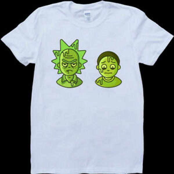 RiShort-Sleeve e Morty Alternative Mens Branco Custom Made Camiseta
