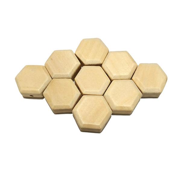 Hexagon beads 100pcs
