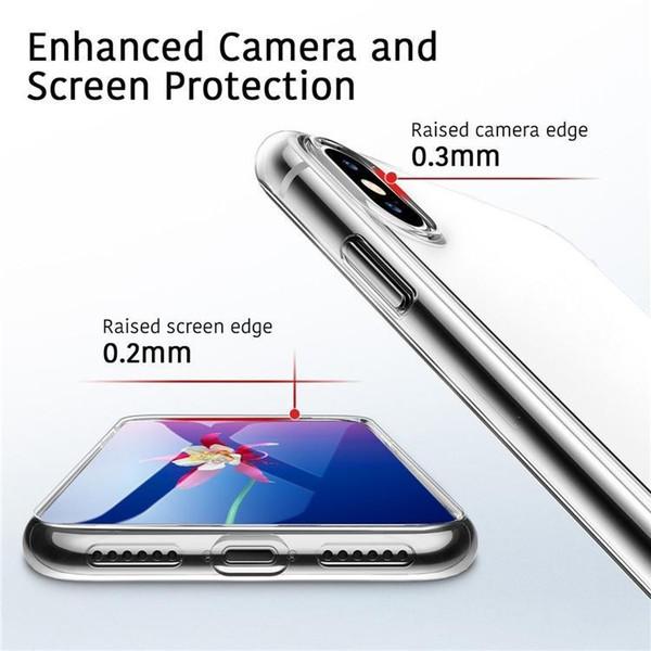 Гарантированное идеальный телефон случае для Iphone 8 XS XR MAX X Примечание 9 S7 0,3 мм Кристалл Гель Ультра-тонкий прозрачный мягкий TPU Clear Случаи