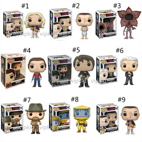 11 Estilo Funko POP Stranger Things Temporada 3 brinquedos série New TV Onze Demogorgon Modelo PVC Doll presentes brinquedos B1