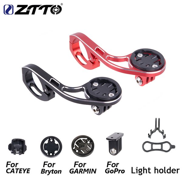 ZTTO Bicycle GPS Computer & Camera Holder For GARMIN CATEYE GoPro Sports Camera Light Mount Handlebar Extension Out-front Stand