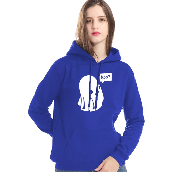 2019 New Fashion Sweatshirt Hoody Print Ghost Boo Gothic Hoodies Autumn Winter Brand Clothes Tops Lady Hip Hop Women's Hoodies
