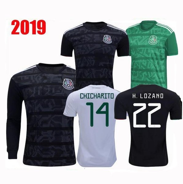 Mexico Jersey 2020 World Cup.2019 19 20 Mexico Soccer Jerseys H Lozano Dos Santos Chicharito Soccer Shirt 2019 2020 Gold Cup Adult Man Kit Sports Football Jersey From