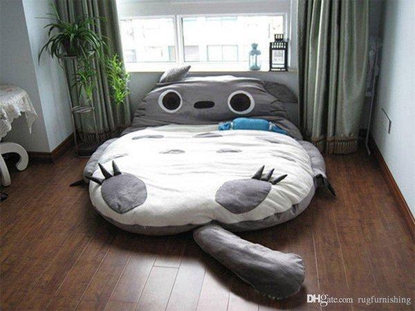 Büyük Totoro Yumuşak Karikatür Yatak Uyku Tulumu Pad Dolum Dolması Peluş Tatami Yatak Oyuncaklar Bebek Hediye