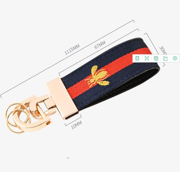 New Designer Key Buckle Fashionable Luxury Keychains Fine Handmade Brand Car Keychain Leather Cloth Bag Stylish Accessories High Quality