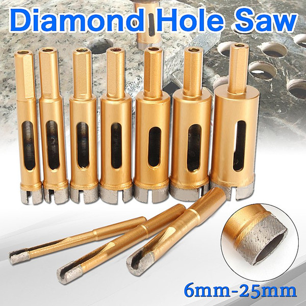 6/8/10/12/14/16/18/20/22/25 Mm Diamond Drill Bit Hole Saw Tile Glass Marble Glass Hole Cutter