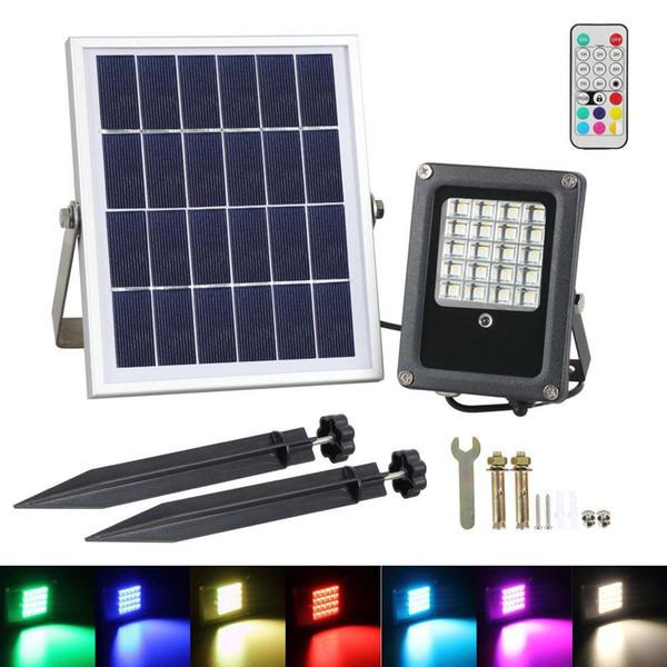LED esterno parete lampada spot RGB telecomando acciaio inox Lampada Illuminazione Cortile