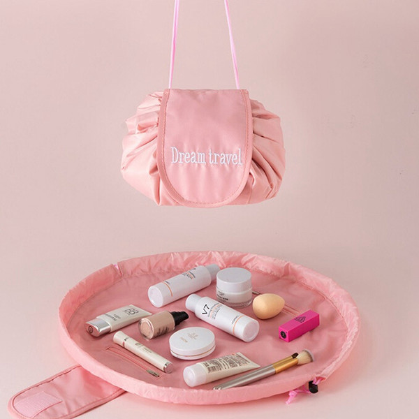 New Travel Makeup Cosmetic Drawstring Toiletry Case Quick Pack Wash Organizer Storage Bags Pouch Drawstring Bag